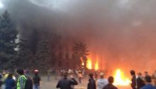 Grupos neonazis incendian la Casa de los Sindicatos en Odesa   Антимайдан @myrevolutionrus