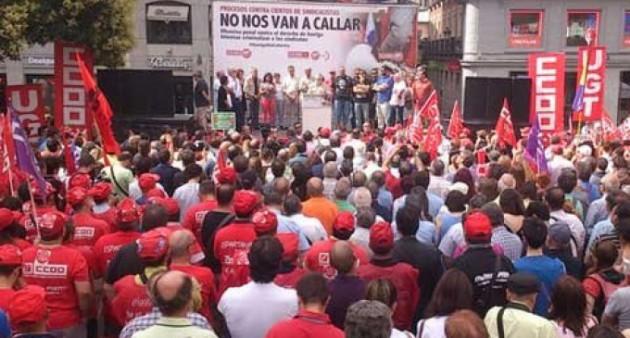 España: movilizaciones en contra de la represión y persecución a los sindicatos | El Tambor