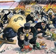 La crisis económica es una excusa del capital para saquear a los Estados y a los ciudadanos y para que las empresas y los bancos obtengan mayores beneficios.