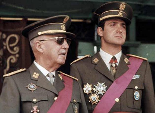 El dictador Franco y el rey Juan Carlos | La Mancha Obrera
