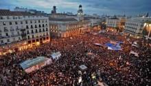 España: Masiva movilización contra el sistema político y de gobierno, heredero de la dictadura franquista