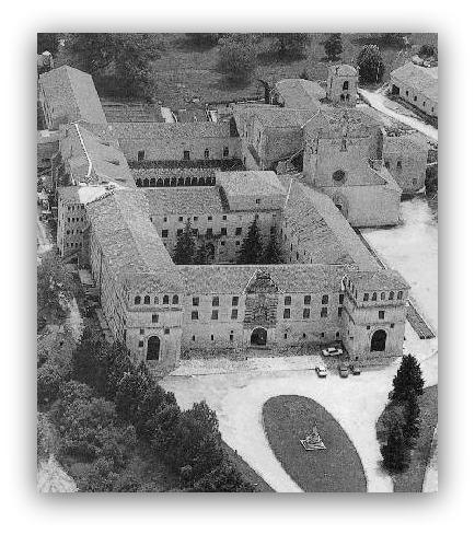 Vista aérea del Monasterio de San Pedro de Cardeña (Burgos), utilizado como campo de prisioneros | Revista Fotográfica Española