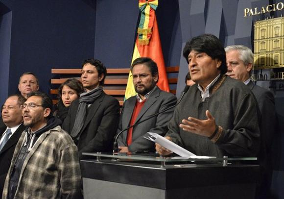 Evo Morales durante su declaració a raíz del asesinato de Rodolfo Illanes | Agencia Boliviana de Información