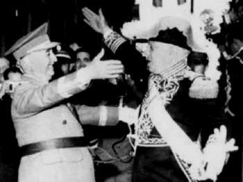 Los dictadores Francisco Franco (España) y Rafael Trujillo (República Dominicana), se profesaban una gran admiración y amistad.