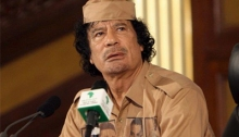 Muammar Al Gaddafi, líder libio asesinado por las potencias imperialistas a través de sus brazos ejecutores, la OTAN y la CIA.