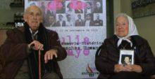 Vicente Almudéver, miliciano en la Guerra Civil española, y Nora Morales de Cortiñas, presidenta de la Asociación Madres de la Plaza de Mayo Línea Fundadora