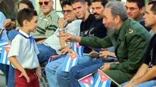 Elián González, el niño balsero, con Fidel Castro