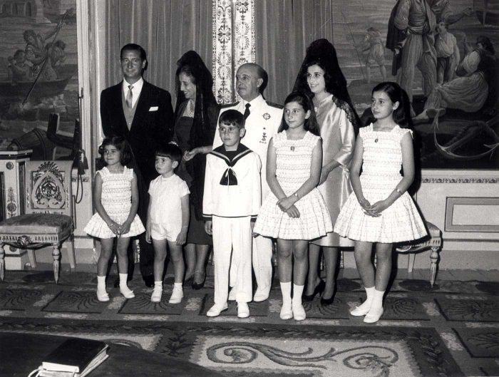 La familia Franco al completo en la comunión de uno de sus nietos.