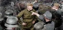 El soldado soviético Serguéi Korolkov desafía a los nazis