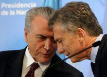 Michel Temer y Mauricio Macri