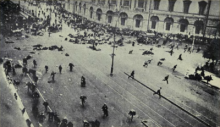 Gran Revolución Socialiste de Octubre: Choque en la Avenida Nevsky, Petrogrado, durante las Jornadas de Julio