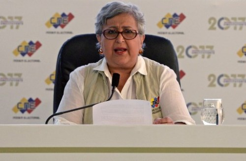 Tibisay Lucena, presidenta del Consejo Nacional Electoral (CNE) de Venezuela