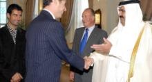 Recepción en el Hotel Ritz Carlton en Doha a la delegación española en 2003
