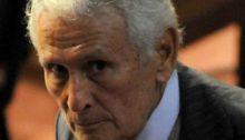 El torturador y genocida Miguel Osvaldo Etchecolatz, exdirector de Investigaciones de la Policía de Buenos Aires