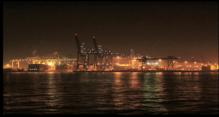 Puerto de Waal de noche