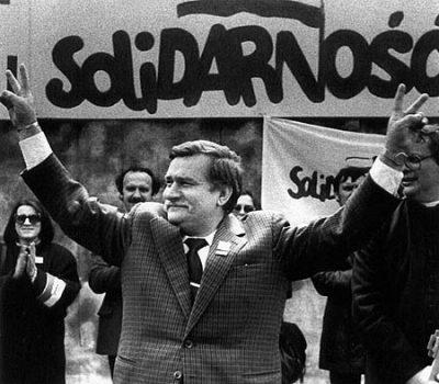 Lech Walesa, dirigente de Solidarnosc