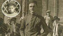 Paquillo Díaz Arias, entrenador del Che, en el campo del Vélez CF en los años treinta del pasado siglo. En la imagen superior izquierda, en un círculo, Ernestito Guevara | VELEZEDARIO