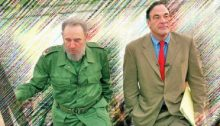 """FILE - In this undated file publicity photo released by HBO, Cuba's leader Fidel Castro, left, walks with Oliver Stone during Stone's making of the HBO documentary """"Looking for Fidel"""" in Havana, Cuba. Castro has died at age 90. President Raul Castro said on state television that his older brother died late Friday, Nov. 25, 2016. (HBO, Rose Serra via AP, File)"""