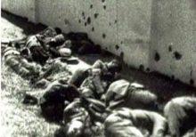 Masacre de Badajoz, España, perpetrada por las tropas de Franco