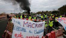 Manifestación del movimiento de los chalecos amarillos en Francia