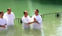 En el año 2016, Bolsonaro fue bautizado por un pastor en el río Jordán, en territorio ocupado por Israel.