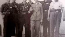 Grupo de falangistas de Montijo | Foto: Archivo Histórico Municipal