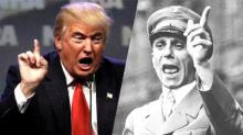Donald Trump y Joseph Goebbels